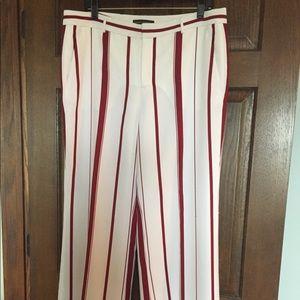 Banana Republic size 10 Blake red stripe leg pants